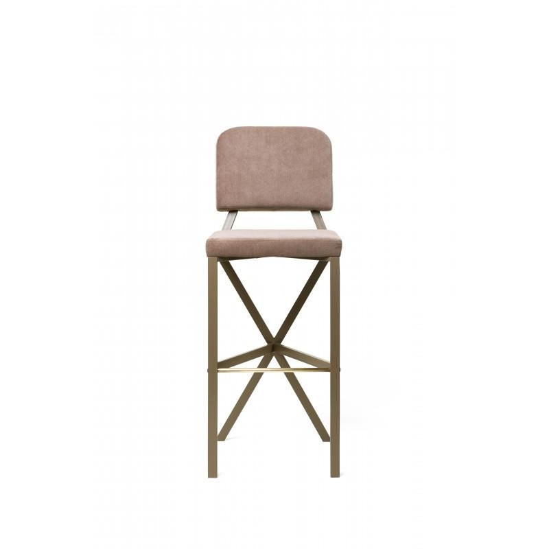 "Bar stool ""X"" (Beige)"