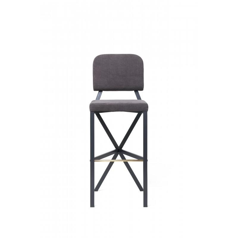 "Bar stool ""X"" (Grey)"