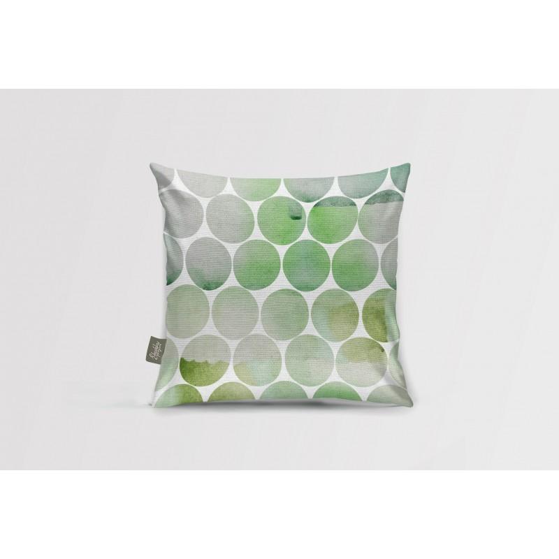 Декоративная подушка Greenery circles