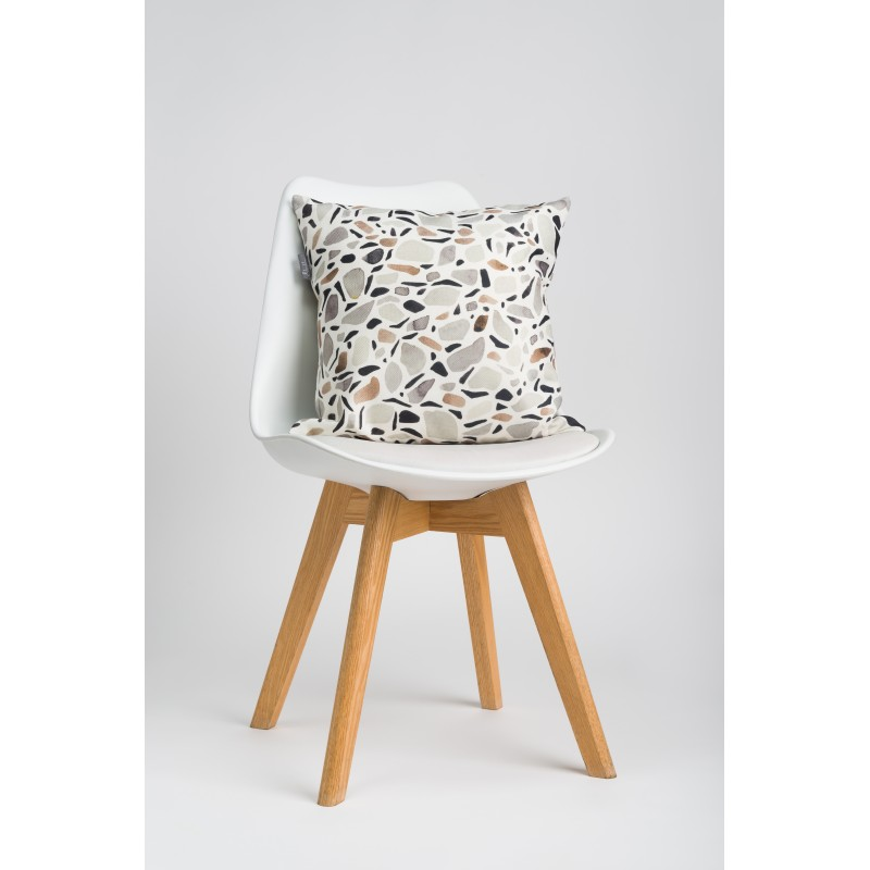 Throw pillow Terrazzo white