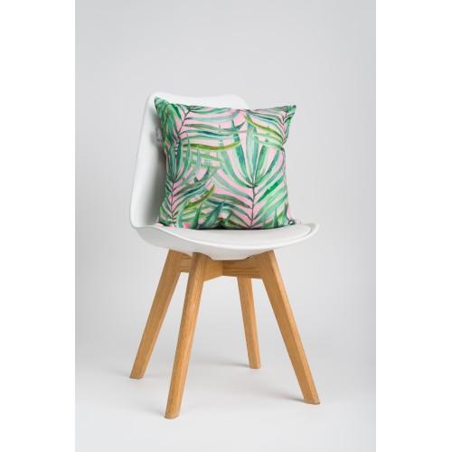 Декоративная подушка Pink & Palm leaf