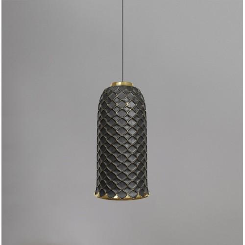 Керамический подвесной светильник CERAMIKA DESIGN AJUR 3D VS3 black & gold