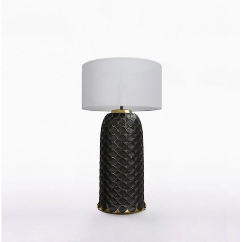 Настольный керамический светильник CERAMIKA DESIGN AJUR 3D VS3 black & gold