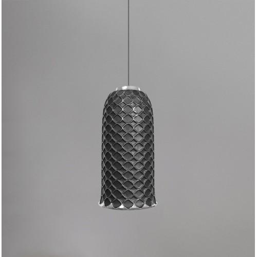 Керамический подвесной светильник CERAMIKA DESIGN AJUR 3D VS3 black & silver