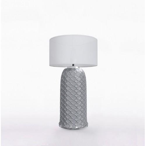 Настольный керамический светильник CERAMIKA DESIGN AJUR 3D VS3 gray & silver