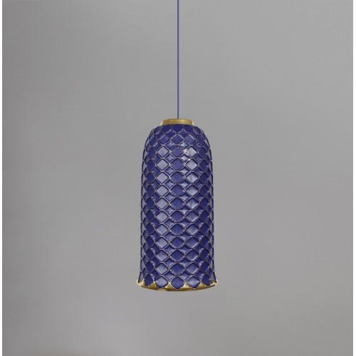 Керамический подвесной светильник CERAMIKA DESIGN AJUR 3D VS3 sapphire & gold