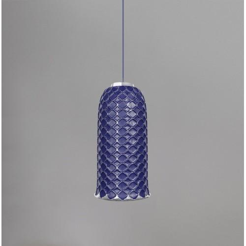 Керамический подвесной светильник CERAMIKA DESIGN AJUR 3D VS3 sapphire & silver