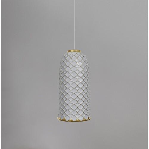 Керамический подвесной светильник CERAMIKA DESIGN AJUR 3D VS3 white & gold