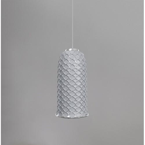 Керамический подвесной светильник CERAMIKA DESIGN AJUR 3D VS3 white & silver