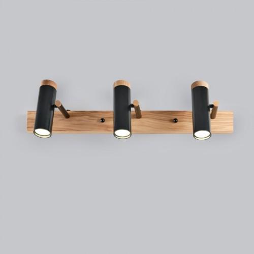 Настенный/потолочный светильник черный в стиле лофт Ubra-3
