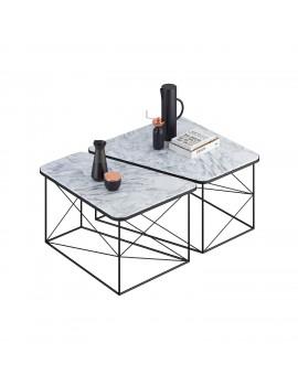 Комплект журнальних столів PART marble