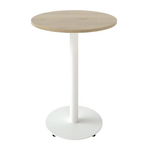 Стол Soul light d-600 черный металл/дуб ДСП