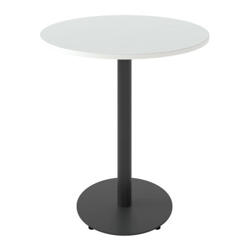 Стол Soul light d-700 черный металл/белый ДСП