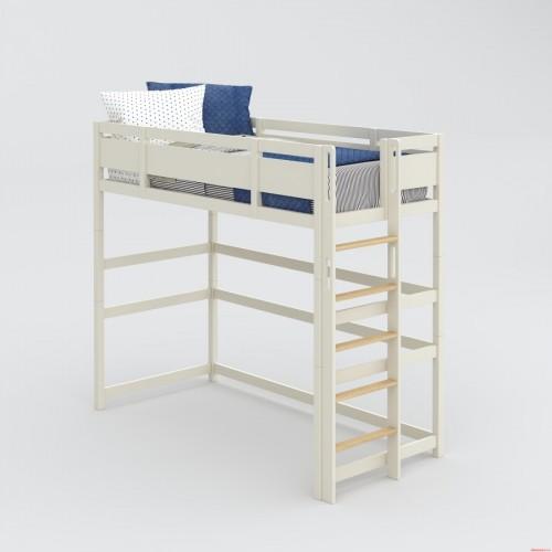 Высокая кровать-чердак с зоной для обучения Nest