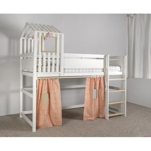 Кровать-чердак с игровой зоной и домиком Nest