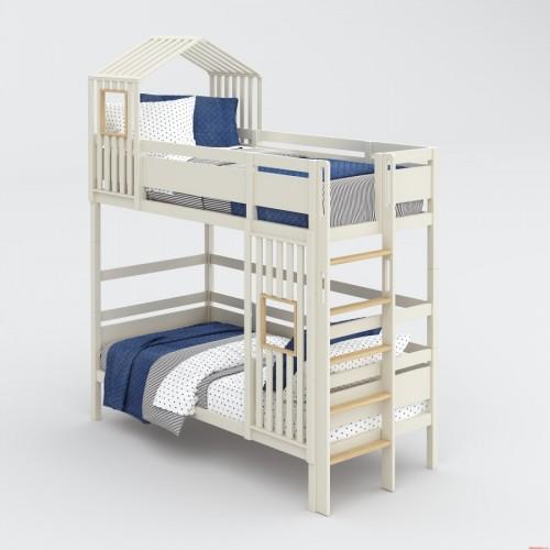 Двухэтажная кровать с домиком Nest