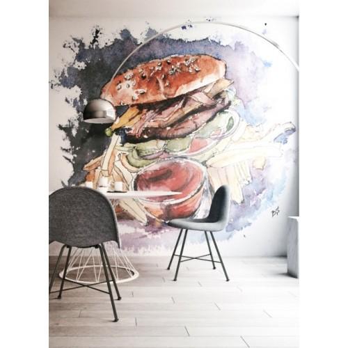"""Дизайнерские обои """"Burger"""""""