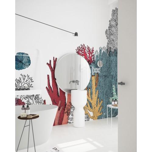 "Дизайнерские обои "" Кораллы"" / wallpaper bathroom"