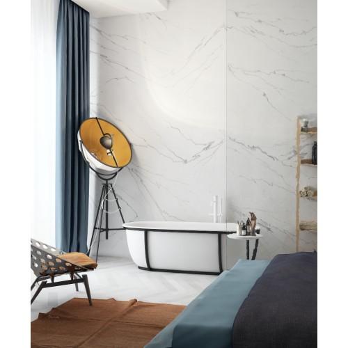 """Дизайнерские обои """"Белый мрамор"""" / wallpaper bathroom"""