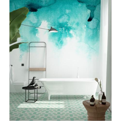 """Дизайнерские обои """"Watercolor градиент"""" / wallpaper bathroom"""
