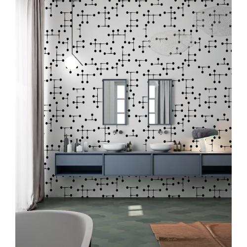 """Дизайнерские обои """"Атом"""" / wallpaper bathroom"""