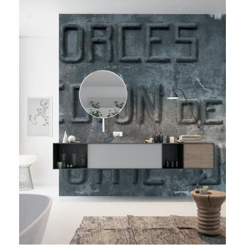 """Дизайнерские обои """"Бронзовые буквы"""" / wallpaper bathroom"""