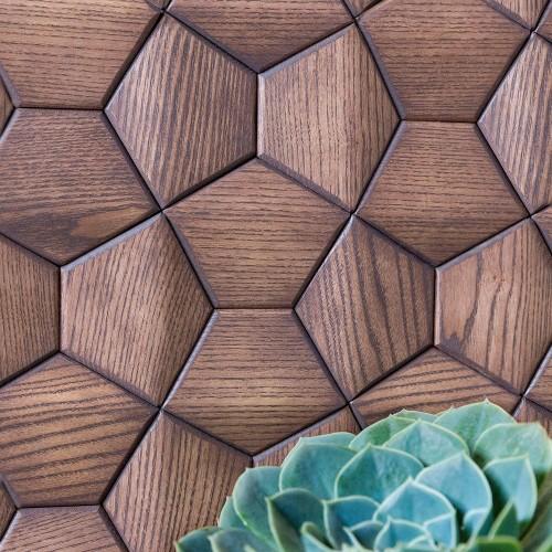 Деревянная мозаика для стен Atlanta