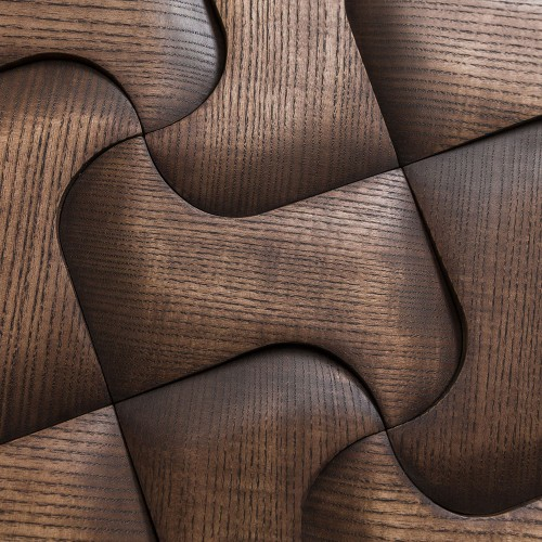 Деревянная мозаика для стен Chicago