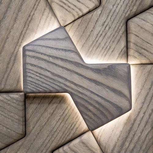 Деревянная мозаика для стен Detroit